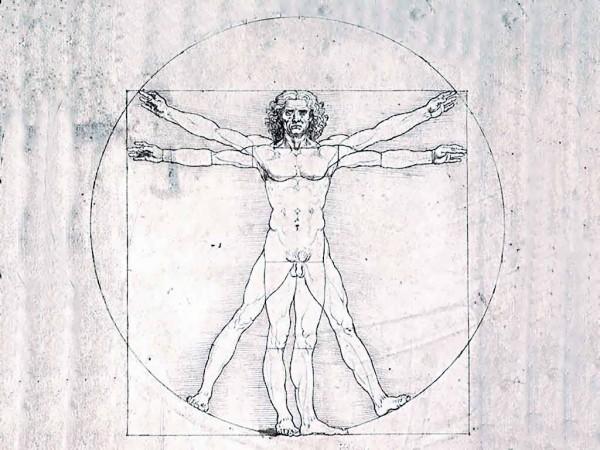 Витрувианский человек. Рисунок Леонардо да Винчи