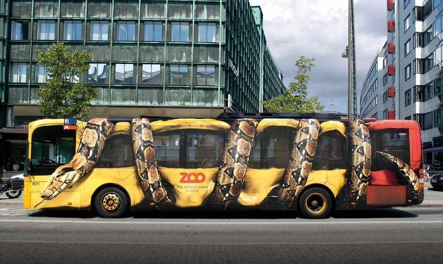 Креативная реклама зоопарка, Копенгаген (Дания)