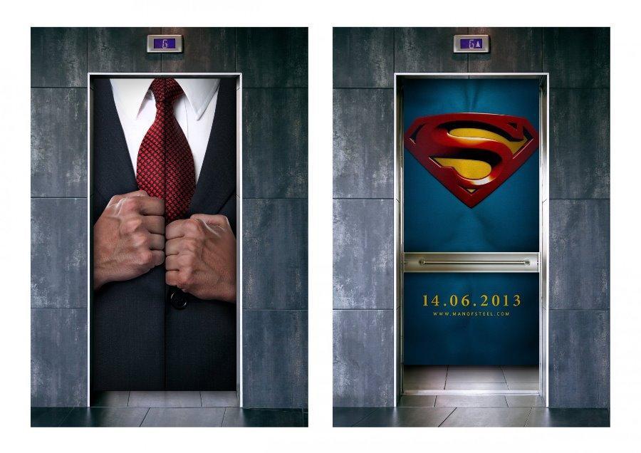 Креативная реклама фильма о Супермене
