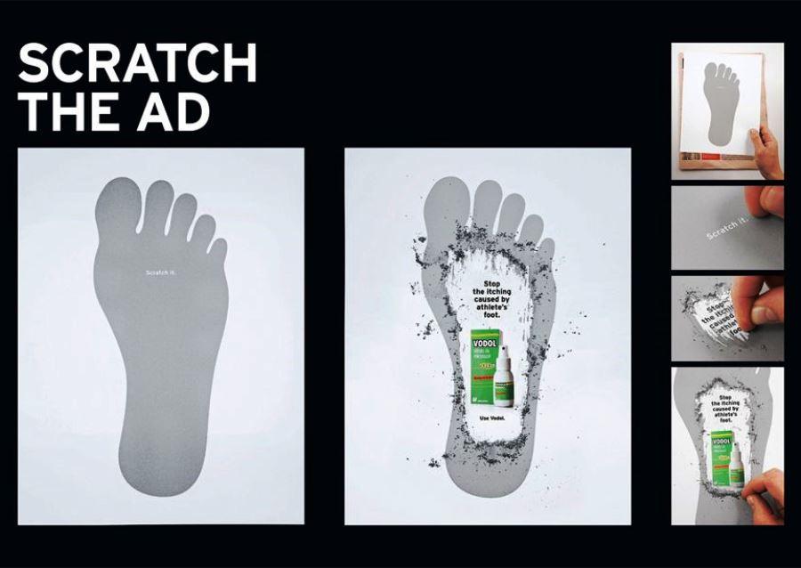 «Потрите!» Реклама средства против грибка стопы