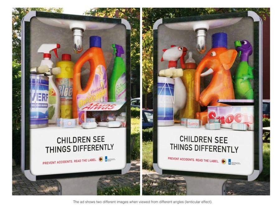 Дети видят вещи иначе. Предотвратите несчастный случай - читайте этикетки!