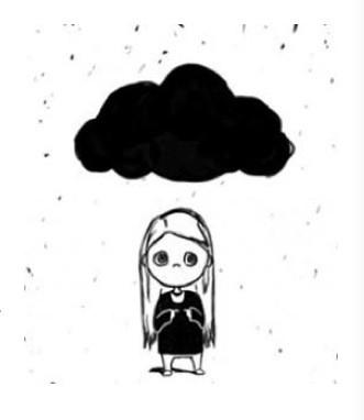 Черное облако переживаний