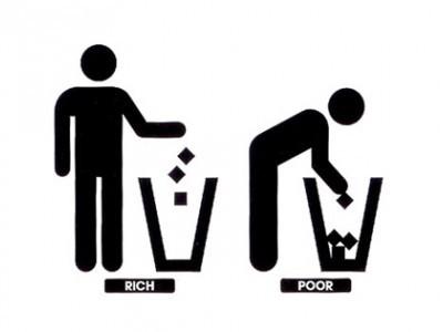 Богач и бедняк картинка