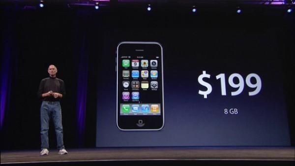 Цена на самый первый iPhone (с 2-летним контрактом)