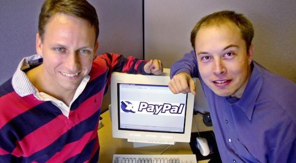 Петер Тиль (слева) и Илон Маск