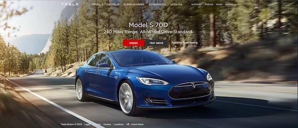 Официальный сайт компании Tesla Motors