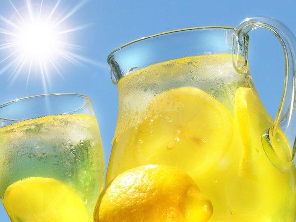Вода с лимоном, с лимоном вода