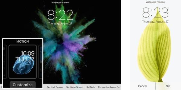 Анимированные обои iPhone 6s