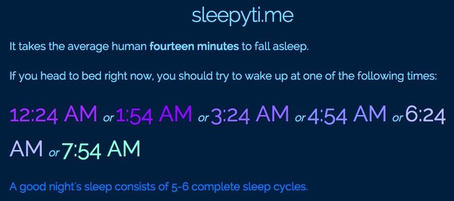 Sleepyti.me — калькулятор циклов сна для тех, кто хочет спать хорошо