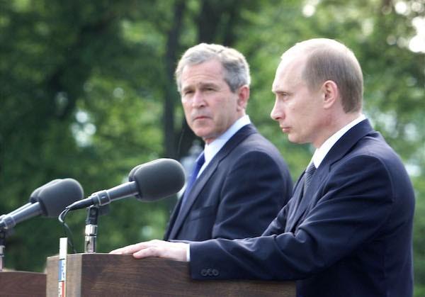 Путин и Джордж Буш