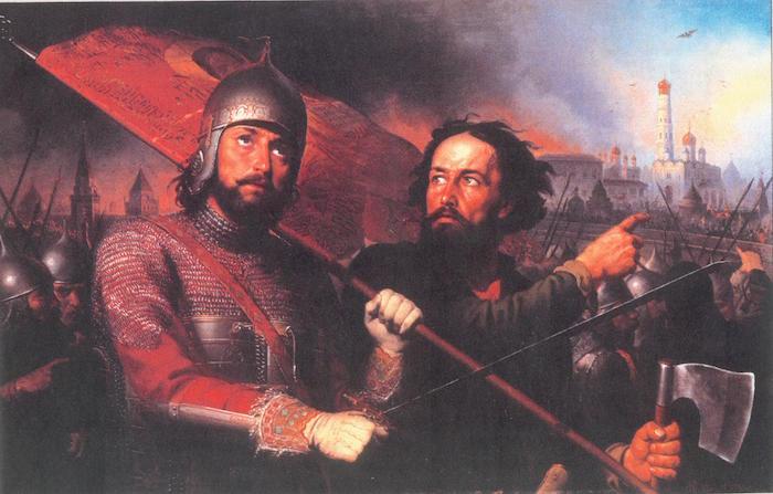 Князь Дмитрий Пожарский (слева) и Кузьма Мини