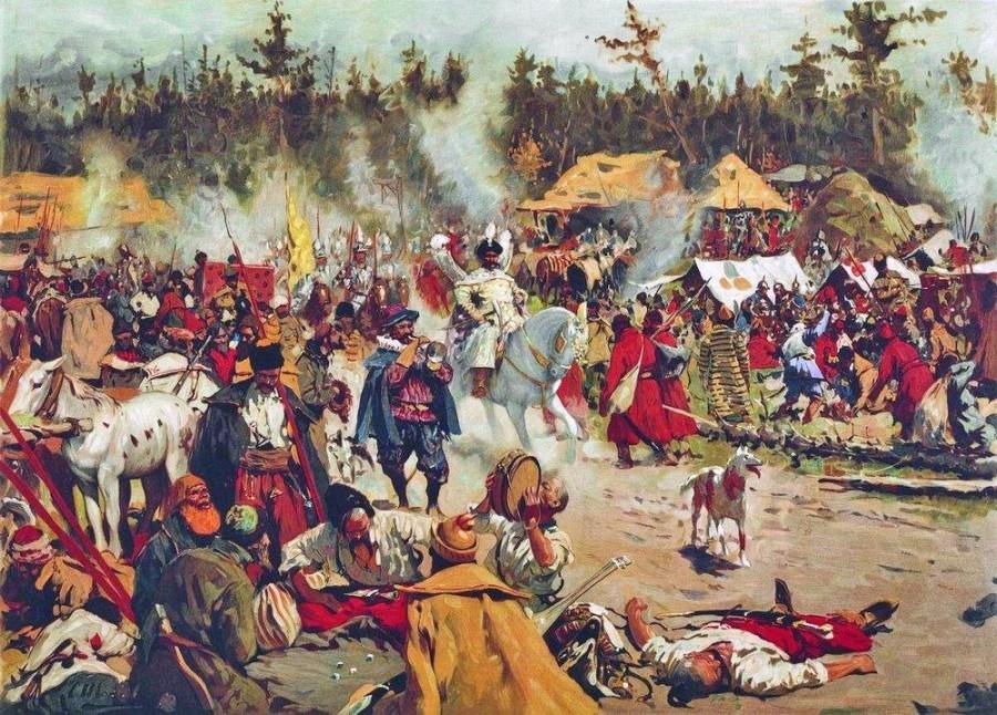 Лагерь Лжедмитрия II в Тушино