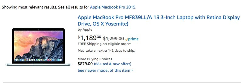 Новый macbook pro early 2015 на amazon