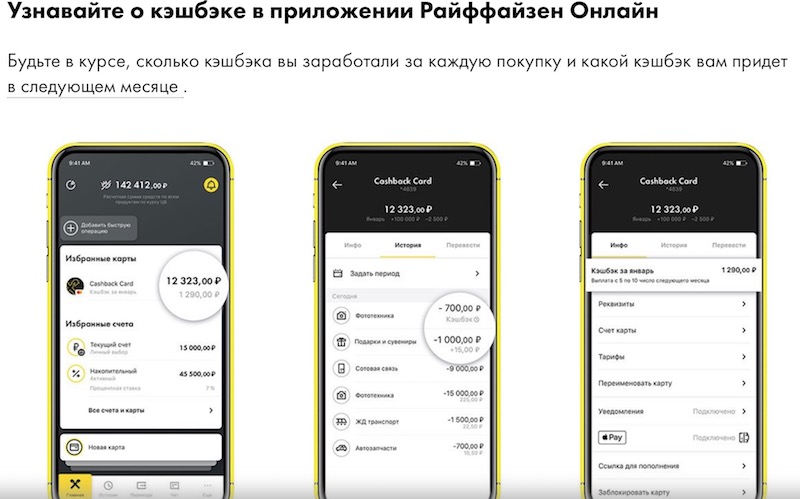 "кэшбэк-карта ""Райффайзенбанка"""