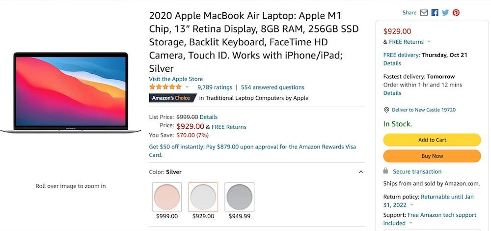 Где купить MacBook Air с M1 - привозим из Америки